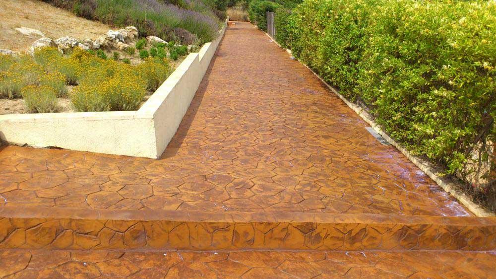 Ideas para suelos de hormig n impreso peg alicante - Hormigon decorativo para suelos ...